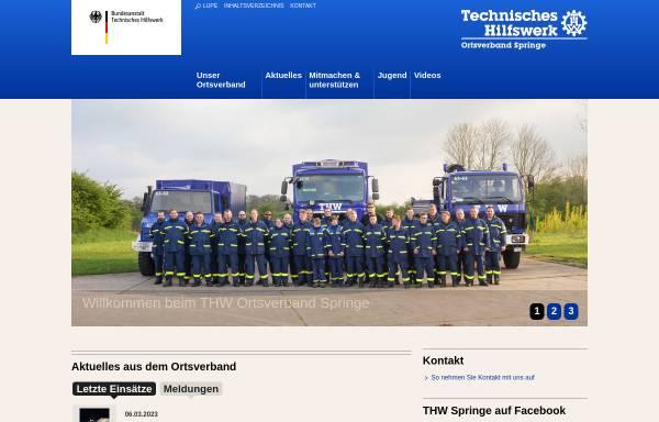 Vorschau von www.thw-springe.de, THW Ortsverband Springe
