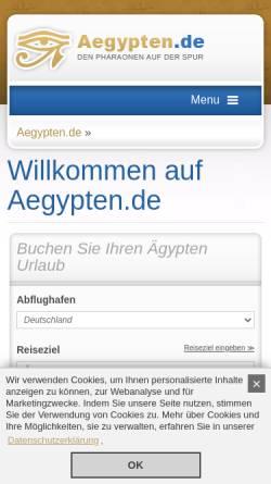 Vorschau der mobilen Webseite www.aegypten.de, Go 4 Sun