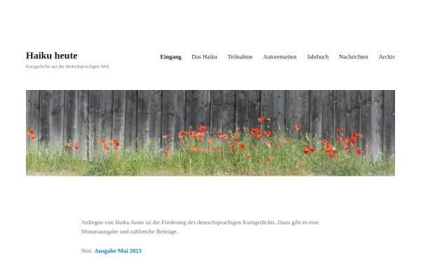 Vorschau von www.haiku-heute.de, Haiku heute
