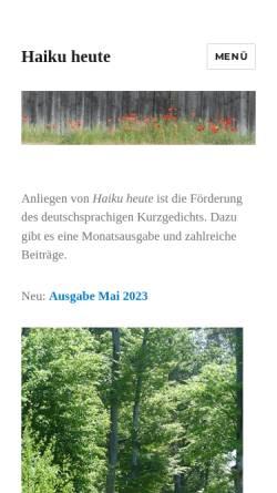 Vorschau der mobilen Webseite www.haiku-heute.de, Haiku heute