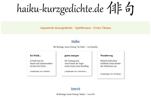 Vorschau von www.haiku-kurzgedichte.de, Haiku-Foren
