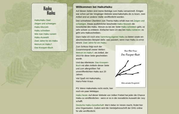 Vorschau von www.ziemlichkraus.de, HaikuHaiku