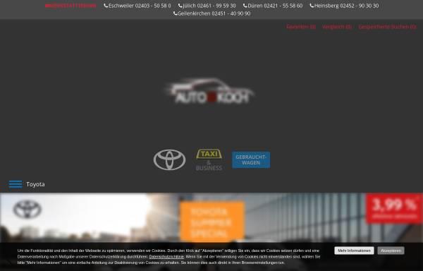 Vorschau von www.eschweiler-toyota.de, Auto-Koch GmbH & Co. KG