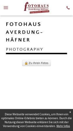 Vorschau der mobilen Webseite www.averdung-foto.de, Fotohaus Brigitte Averdung-Häfner