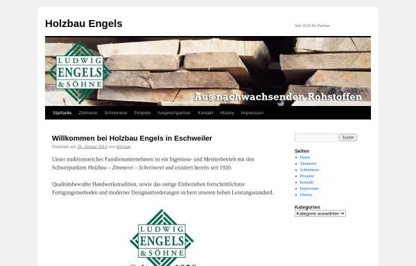 Vorschau von www.holzbau-engels.de, Ludwig Engels & Söhne Holzbau - Holzhandlung KG