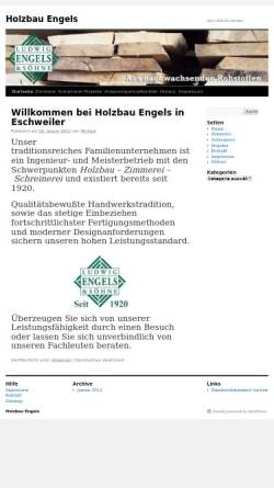 Vorschau der mobilen Webseite www.holzbau-engels.de, Ludwig Engels & Söhne Holzbau - Holzhandlung KG
