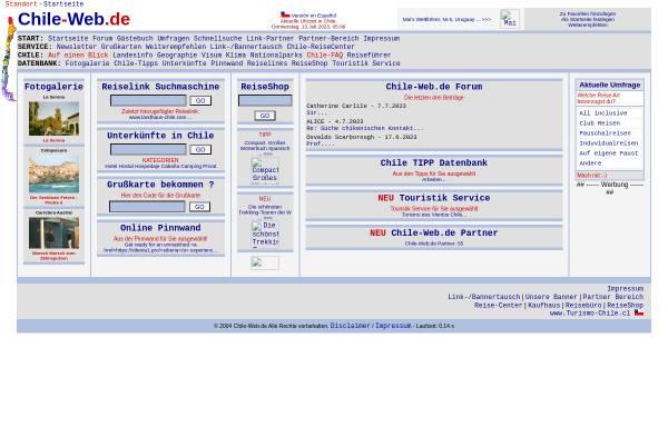 Vorschau von www.chile-web.de, Chile-Web.de