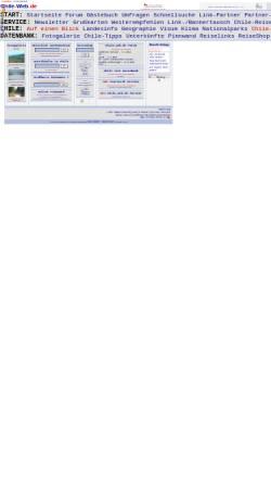 Vorschau der mobilen Webseite www.chile-web.de, Chile-Web.de