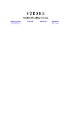 Vorschau der mobilen Webseite www.hdiehl.de, Inselhüpfen in der Südsee [Irmgard & Heinz Diehl]