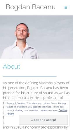 Vorschau der mobilen Webseite www.bogdanbacanu.com, Bácanu, Bogdan