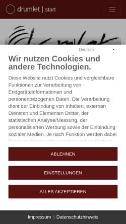 Vorschau der mobilen Webseite www.drumlet.de, Drumlet