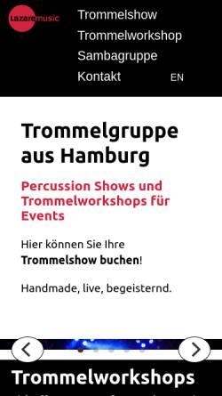 Vorschau der mobilen Webseite lazaremusic.de, Lazaremusic
