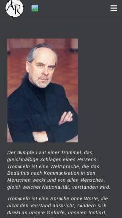 Vorschau der mobilen Webseite albrecht-riermeier.de, Riermeier, Albrecht