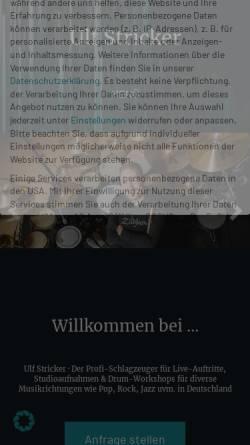 Vorschau der mobilen Webseite www.ulfstricker.com, Stricker, Ulf