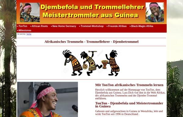 Vorschau von www.tonton-djembe.de, TonTon