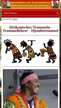 Vorschau der mobilen Webseite www.tonton-djembe.de, TonTon