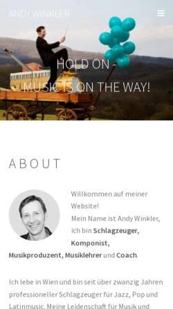 Vorschau der mobilen Webseite www.andywinkler.com, Winkler, Andy