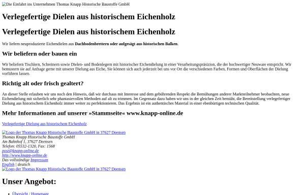 Vorschau von www.knapp-historische-baustoffe.de, Bau-Stoff-Recycling Th. Knapp GmbH