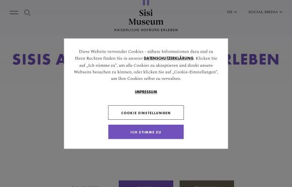 Vorschau von www.hofburg-wien.at, Wien, Hofburg: Kaiserappartements und Silberkammer