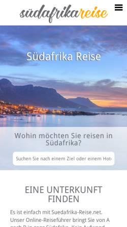 Vorschau der mobilen Webseite www.suedafrika-reise.net, SA-Venues.com