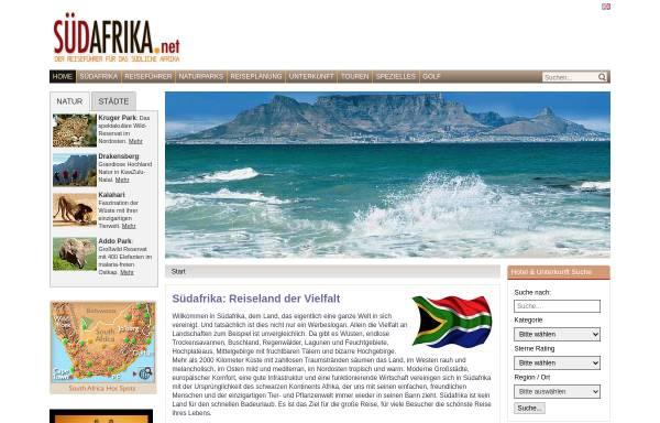 Vorschau von www.suedafrika.net, Südafrika Online Reiseführer