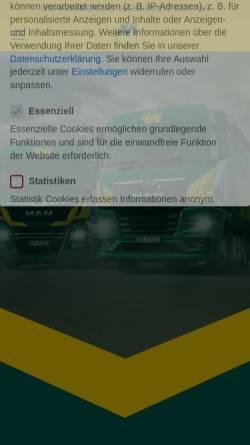 Vorschau der mobilen Webseite www.joh-mueller.de, Spedition Johann Müller KG