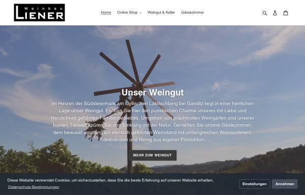 Vorschau von www.weinbau-liener.at, Weinbau Liener