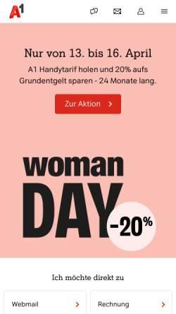 Vorschau der mobilen Webseite members.aon.at, Weingut Brolli Arkadenhof