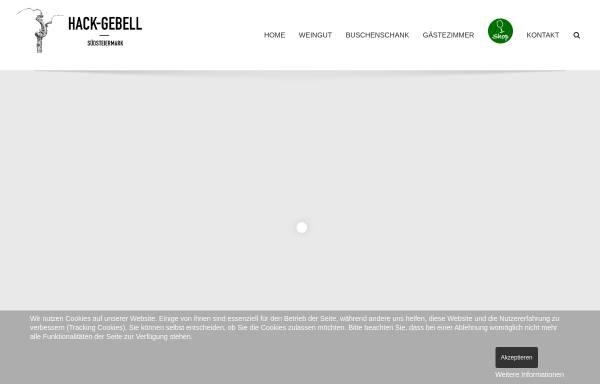 Vorschau von www.weingut-hack.at, Weingut Hack-Gebell