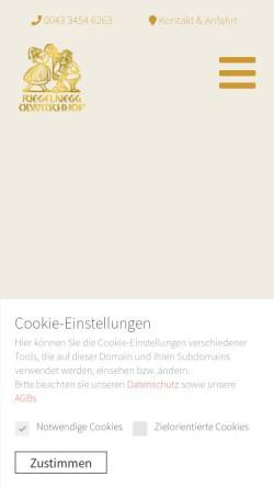 Vorschau der mobilen Webseite www.riegelnegg.at, Weingut Olwitschhof