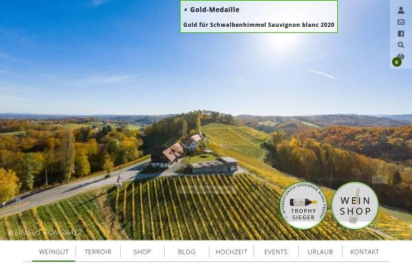 Vorschau von www.pongratz.cc, Weingut Pongratz