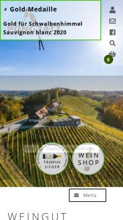 Vorschau der mobilen Webseite www.pongratz.cc, Weingut Pongratz