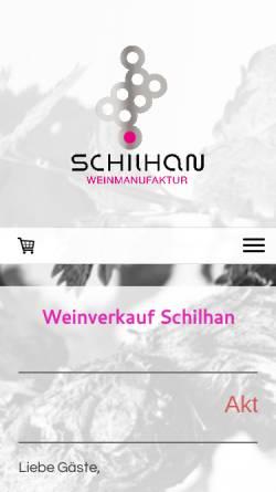 Vorschau der mobilen Webseite www.weingut-schilhan.at, Weingut Schilhan