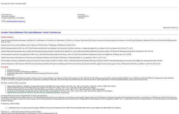 Vorschau von homepage.univie.ac.at, Anna Staudacher