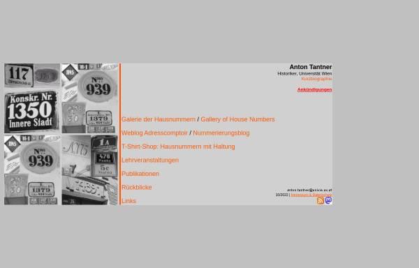 Vorschau von homepage.univie.ac.at, Anton Tantner
