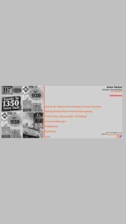 Vorschau der mobilen Webseite homepage.univie.ac.at, Anton Tantner