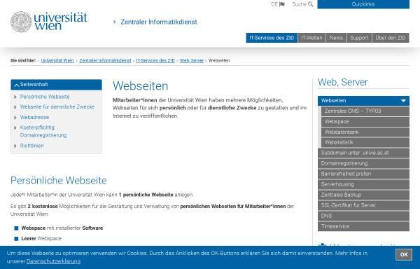 Vorschau von homepage.univie.ac.at, Martina Kaller