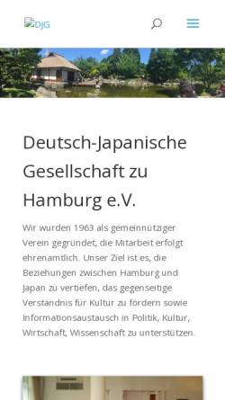 Vorschau der mobilen Webseite www.djg-hamburg.de, DJG Hamburg
