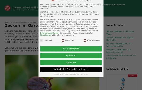 Vorschau von www.borreliose24.de, Die unerkannte Krankheit von Zecken - Borreliose
