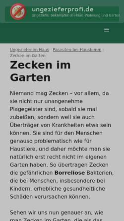 Vorschau der mobilen Webseite www.borreliose24.de, Die unerkannte Krankheit von Zecken - Borreliose