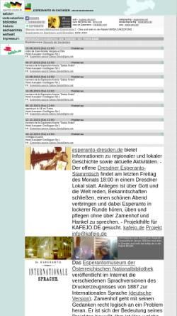 Vorschau der mobilen Webseite www.esperanto-dresden.de, Esperanto in Sachsen und im Raum Dresden