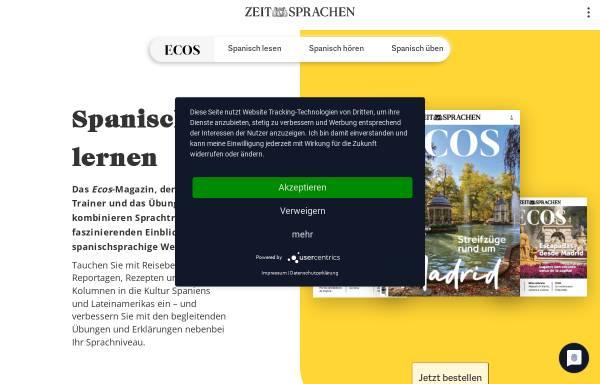 Vorschau von www.ecos-online.de, Ecos Online