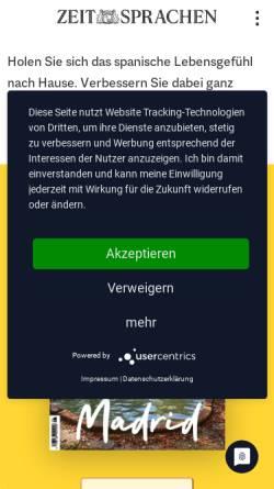Vorschau der mobilen Webseite www.ecos-online.de, Ecos Online