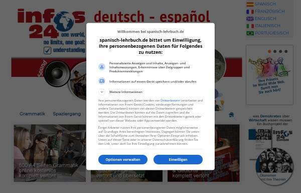 Vorschau von www.spanisch-lehrbuch.de, Spanisch-Lehrbuch