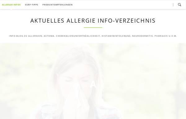 Vorschau von www.allergieinfo.de, Allergiedatenbank