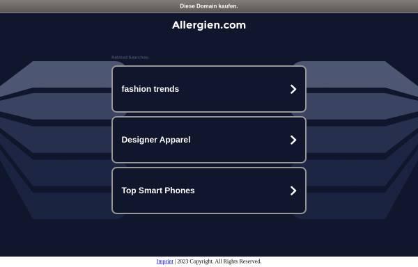 Vorschau von www.allergien.com, Allergien