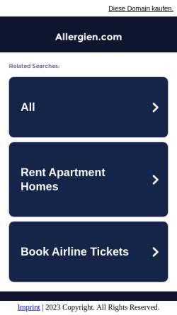 Vorschau der mobilen Webseite www.allergien.com, Allergien