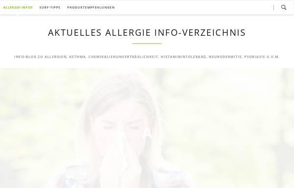 Vorschau von allergie-tipps.de, Allergie-Tipps
