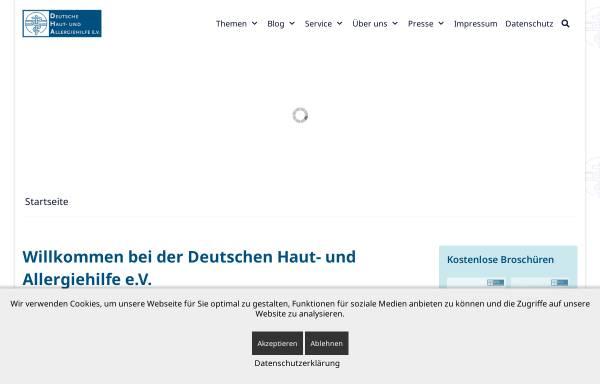 Vorschau von www.dha-allergien.de, Deutsche Haut- und Allergiehilfe e.V.