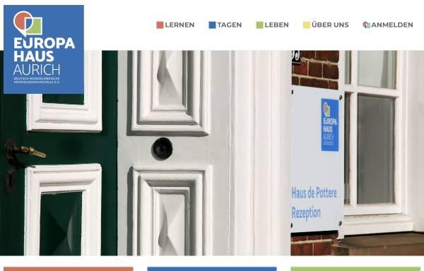 Vorschau von www.europe-direct-aurich.de, Europahaus Aurich